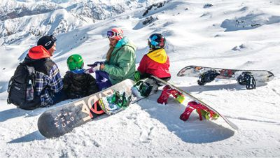 Snowboard Hire for Adults (no boots)
